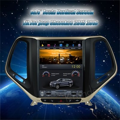 "Krando Android 6.0 10.4"" Tesla style car radio gps navigation player for Jeep Cherokee 2015 2016 multimedia system"